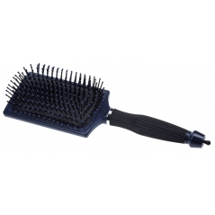 Brosse pneumatique rectangle bleue